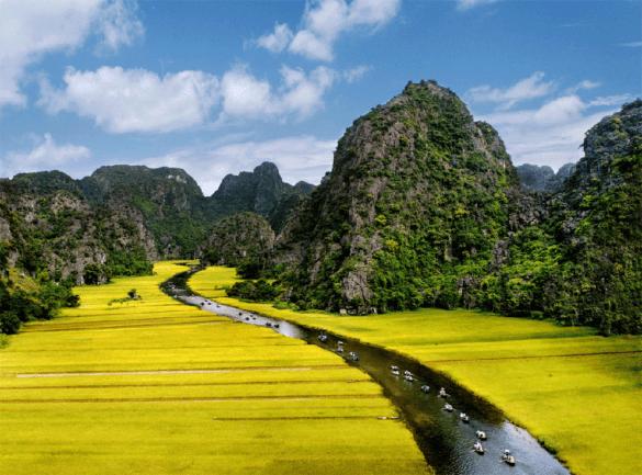 Tam Coc Aerial View