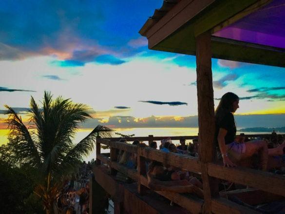 Mesmerising sunset at Amsterdam bar, Koh Phangan