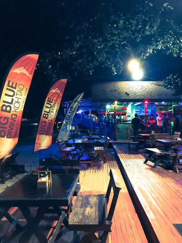 Evening at Big Blue Diving school bar