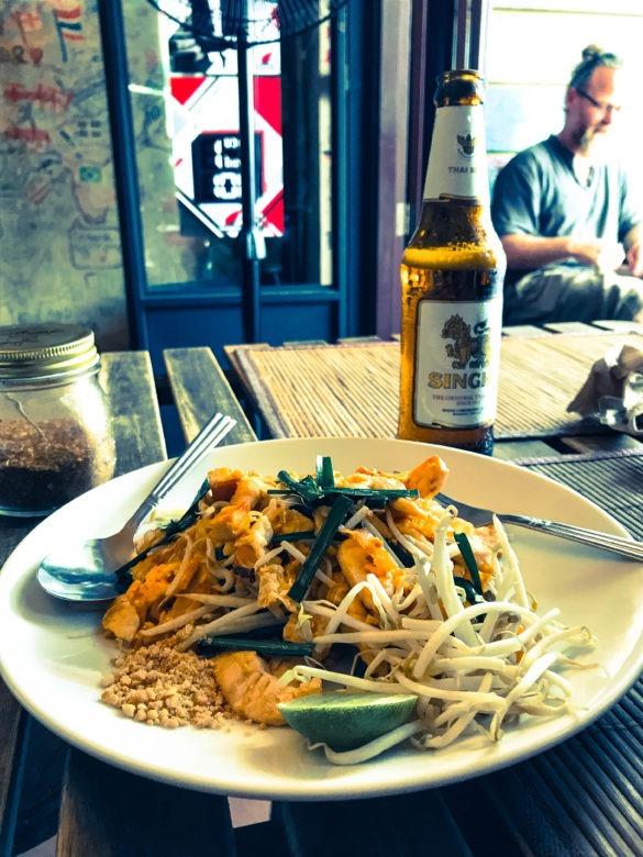 Pad Thai Noodles @ Koh Phangan restaurant