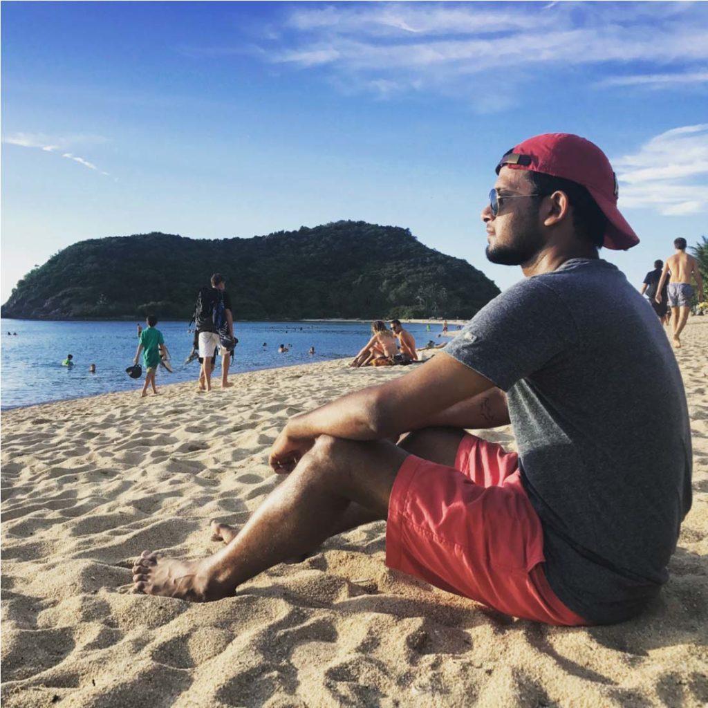 Enjoying at Beach
